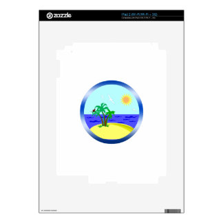 Ocean and sunlight decals for iPad 2
