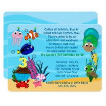 Ocean Animals Birthday Invitations Under the Sea