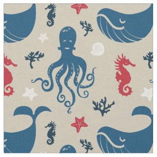 Nursery fabric zazzle for Nautical nursery fabric