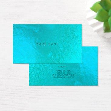 Beach Themed Ocean Aqua Pearly Metallic Appointment Card Vip
