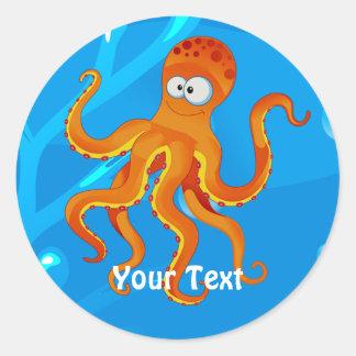 Ocean Aquatic Cute Octopus Custom Sticker
