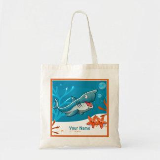 Ocean Aquatic Cute Shark Fish Custom Tote