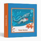 Ocean Aquatic Cute Shark Starfish Custom Binder