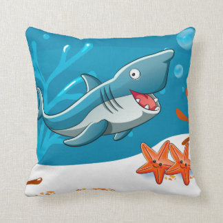 Ocean Aquatic Cute Shark Starfish Pillow