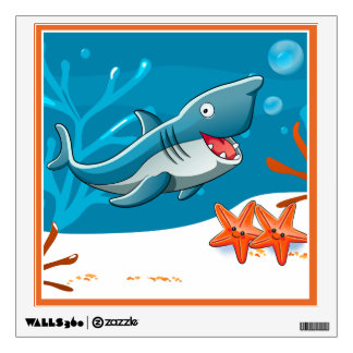 Ocean Aquatic Cute Shark Wall Decal