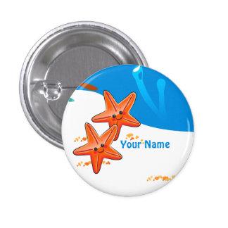 Ocean Aquatic Cute Starfish Custom Button