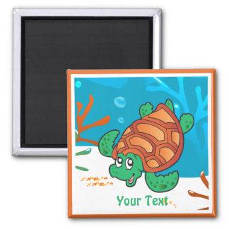 Ocean Aquatic Cute Turtle Custom Magnet