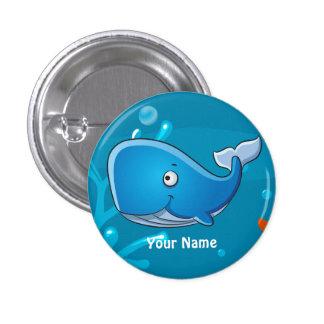 Ocean Aquatic Cute Whale Custom Button