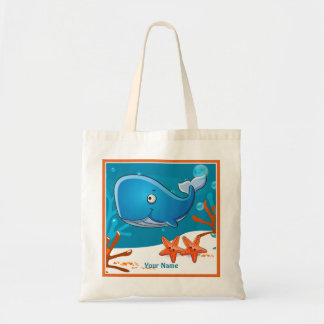 Ocean Aquatic Cute Whale Custom Tote