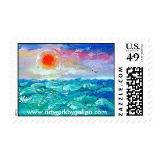 Ocean - Artwork by Galina Postage Stamp