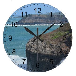 Ocean at Kilauea Large Clock