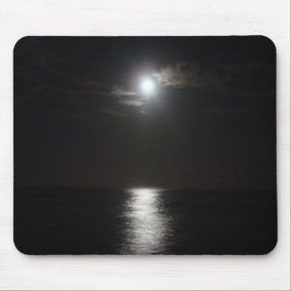 Ocean at night mouse pad