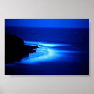 Ocean at Night Poster