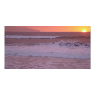Ocean at sunset card