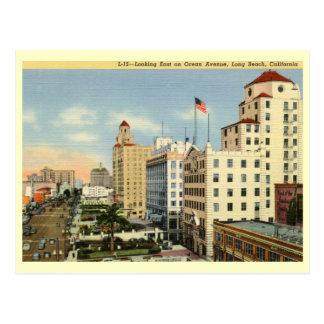 Ocean Ave., Long Beach, California Vintage Postcard