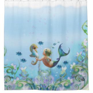 Ocean Babies Shower Curtain