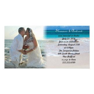 Ocean Beach After the Wedding Photo Announcement