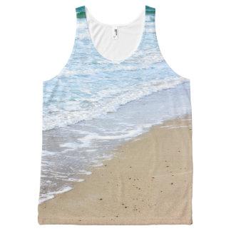 Ocean beach All-Over print tank top