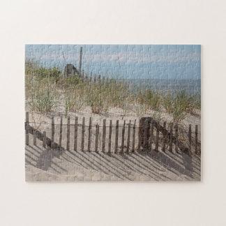 Ocean beach and sand dunes puzzle