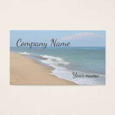 Beach Themed Ocean beach and waves business card