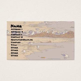 Ocean Beach Birds Shorebirds Wildlife Animals Business Card