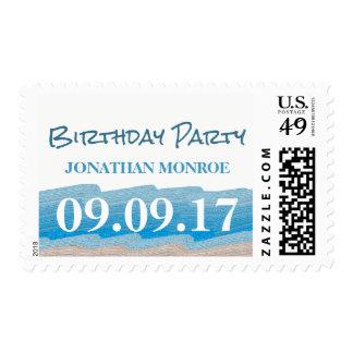 Ocean Beach Birthday Party Postage