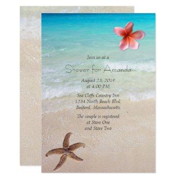 sandpiperWedding Ocean Beach Bridal Shower Party Invitation