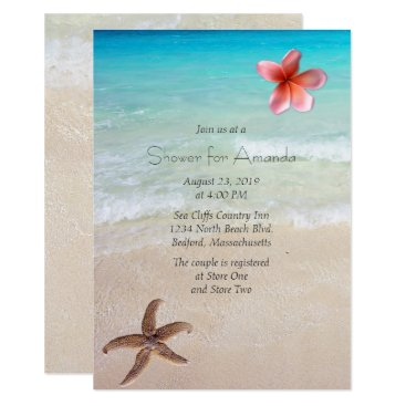 sandpiperWedding Ocean Beach Bridal Shower Party Invitation