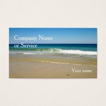 Beach Themed Ocean beach business card