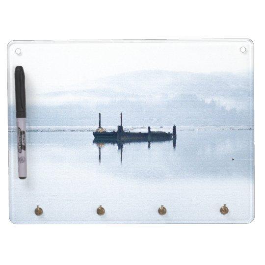 Ocean Beach Coast Sea Shore Dry Erase Board With Keychain Holder