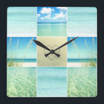 "Ocean Beach Collage Wall Clock<br><div class=""desc"">A photo collage wall clock that will set your mind on beach time, no matter where you are! This ocean beach wall clock features three different photographs that capture a beautiful day at the beach. If your mind is on the beach more often than your body, then these collections will...</div>"