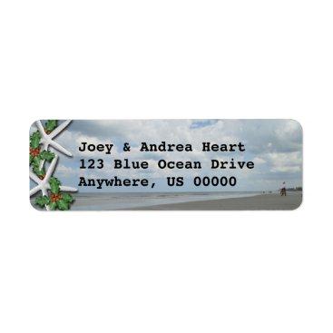 Beach Themed Ocean Beach Custom Holiday Address Labels