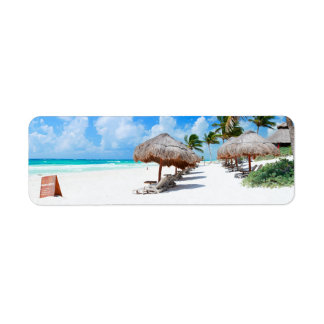 Ocean beach custom return address labels
