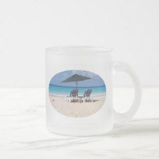 Ocean Beach Date 10 Oz Frosted Glass Coffee Mug