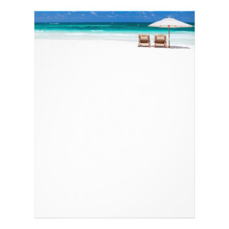 Ocean beach letterhead template