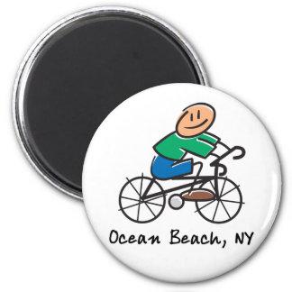Ocean Beach NY 2 Inch Round Magnet