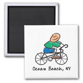 Ocean Beach NY 2 Inch Square Magnet