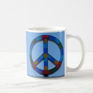 Ocean Beach Peace Sign Coffee Mug