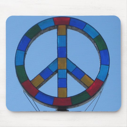 Ocean Beach Peace Sign Mouse Pad
