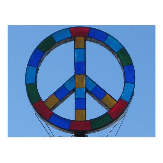 Ocean Beach Peace Sign Postcard