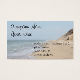 Ocean beach photo business card
