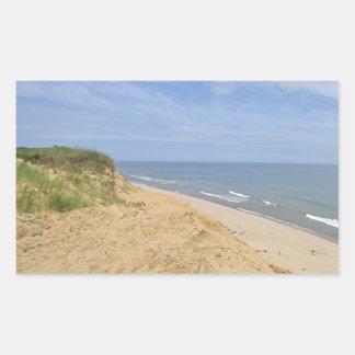 Ocean beach photo rectangular sticker