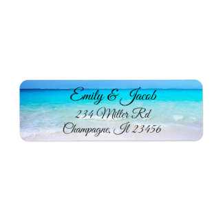 Ocean Beach Photo Return Address Labels