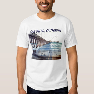 OCEAN BEACH PIER J PEC, SAN DIEGO, CALIFORNIA T SHIRT