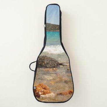 Beach Themed Ocean Beach Rocks Landscape Guitar Case