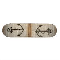 ocean beach  sailor vintage nautical anchor skateboard