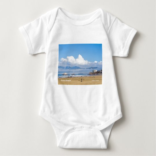 Ocean Beach San Francisco California Products Baby Bodysuit