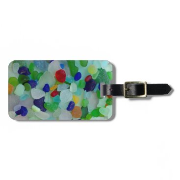 Beach Themed Ocean, beach, sea glass, beach glass bag tag