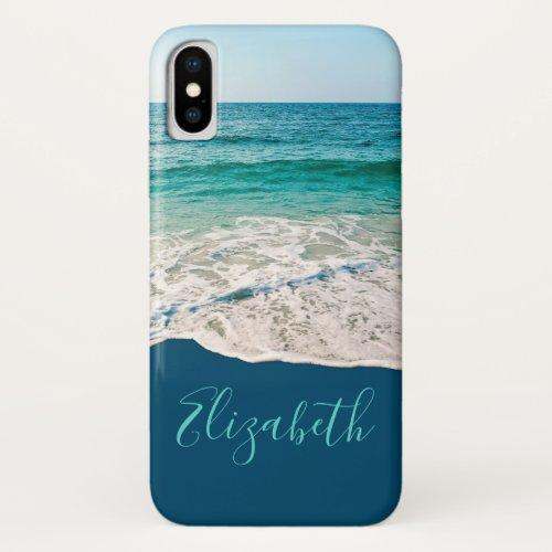 Ocean Beach Shore Personalized Blue Phone Case