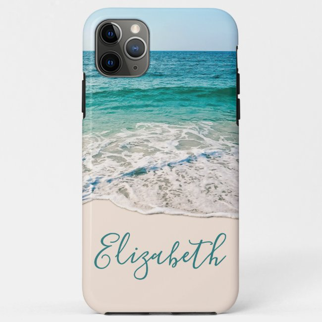 Ocean Beach Shore to Add Your Name Case-Mate iPhone Case